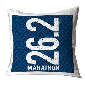Running Throw Pillow 26.2 Marathon Vertical