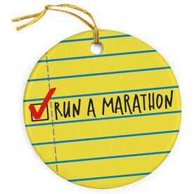 Running Porcelain Ornament Run a Marathon