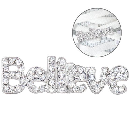LaceBLING Shoelace Charm - BELIEVE (Rhinestone)