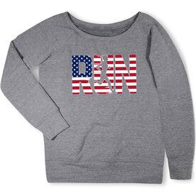Running Fleece Wide Neck Sweatshirt - Run Girl USA