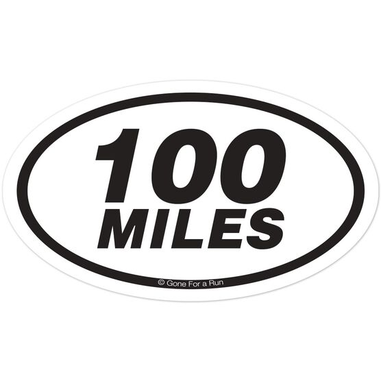 100 Miles Oval Car Magnet