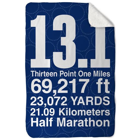Running Sherpa Fleece Blanket - 13.1 Math Miles
