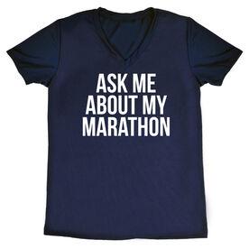 Women's Short Sleeve Tech Tee - Ask Me About My Marathon