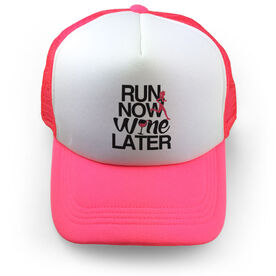 Running Trucker Hat Run Now Wine Later