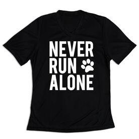 Women's Short Sleeve Tech Tee - Never Run Alone (Bold)