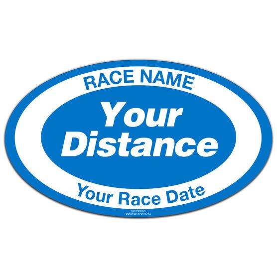 Custom Distance and Race Oval Car Magnet