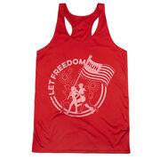Women's Racerback Performance Tank Top - Let Freedom Run