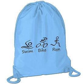Swim.Bike.Run Figures - Triathlon Sport Pack Cinch Sack