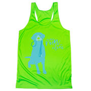 Women's Racerback Performance Tank Top - Never Run Alone