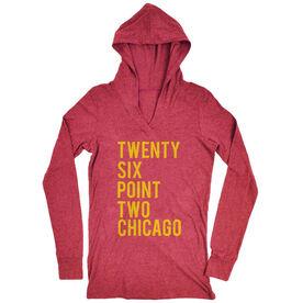 Women's Running Lightweight Performance Hoodie Twenty Six Point Two Chicago