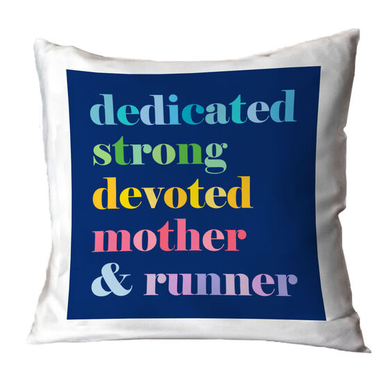 Running Throw Pillow - Mantra Mother Runner