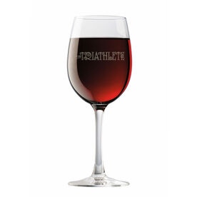 Triathlete (Words) Wine Glass