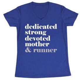 Women's Short Sleeve Tech Tee - Run Mantra Mother Runner