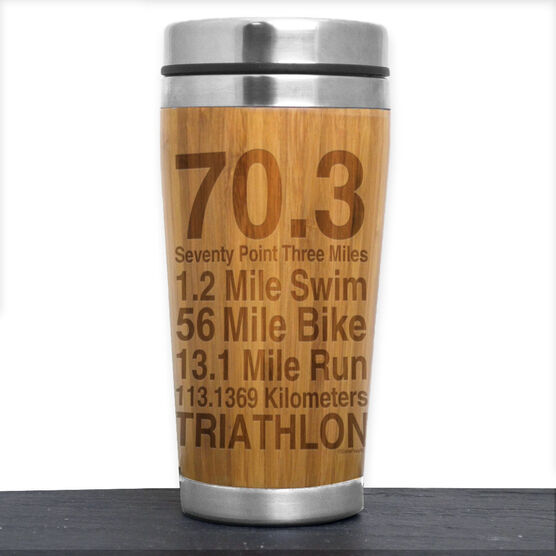 Bamboo Travel Tumbler 70.3 Math Miles