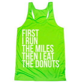 Women's Racerback Performance Tank Top - Then I Eat The Donuts