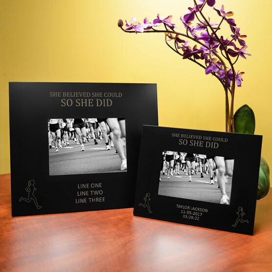 Running Engraved Picture Frame - She Believed She Could So She Did