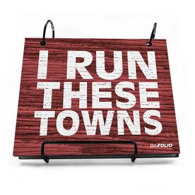 BibFOLIO® Race Bib Album - Run These Towns Rustic