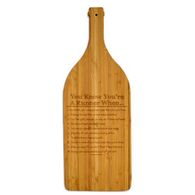 Wine Bottle Laser Engraved Bamboo Cutting Board You Know You're A Runner