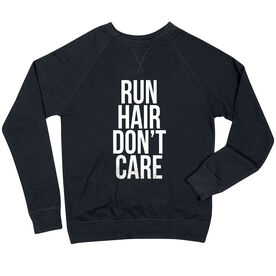 Running Raglan Crew Neck Sweatshirt - Run Hair Don't Care