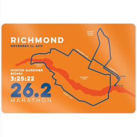 """Running 18"""" X 12"""" Wall Art - Personalized Richmond Map"""