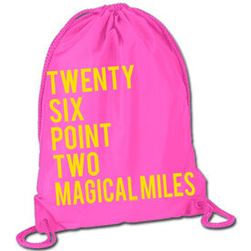 Running Sport Pack Cinch Sack Twenty Six Point Two Magical Miles