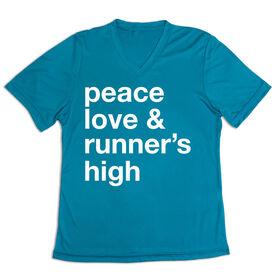 Women's Short Sleeve Tech Tee - Peace Love & Runner's High
