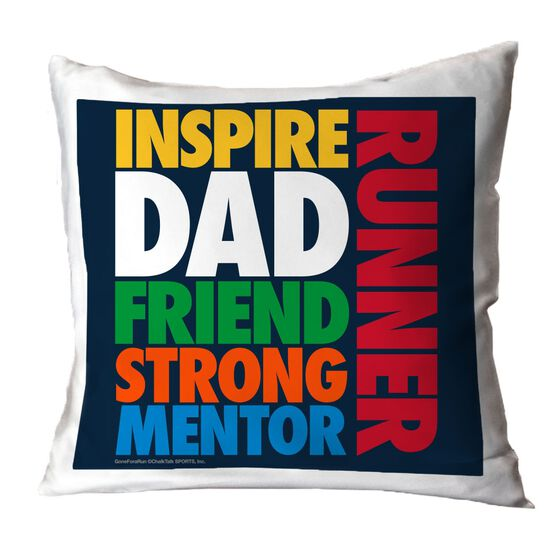 Running Throw Pillow Dad Runner Word