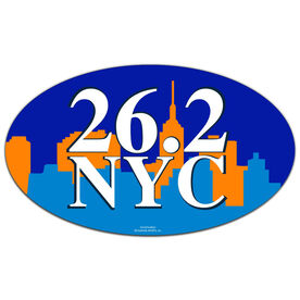 26.2 NYC Oval Car Magnet