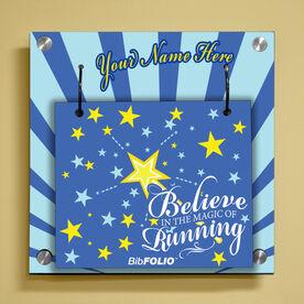 Personalized Believe in the Magic of Running Wall BibFOLIO® Display