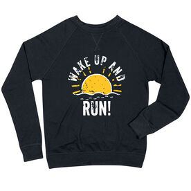 Running Raglan Crew Neck Sweatshirt - Wake Up And Run