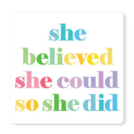 "Running 12"" X 12"" Removable Wall Tile - She Believed She Could"