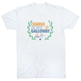 Running Short Sleeve T-Shirt - Charge On With Galloway Wreath