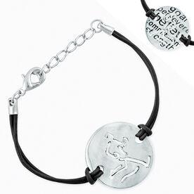 Run Strong Mantra Cord Bracelet