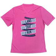 Women's Short Sleeve Tech Tee - Land That I Run