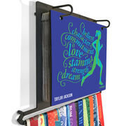 BibFOLIO+™ Race Bib and Medal Display Believe Running Girl