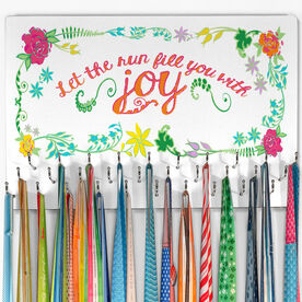 Running Hooked on Medals Large Medal Hanger Let the Run Fill You With Joy