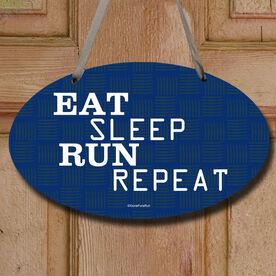 Eat Sleep Run Repeat Decorative Oval Sign