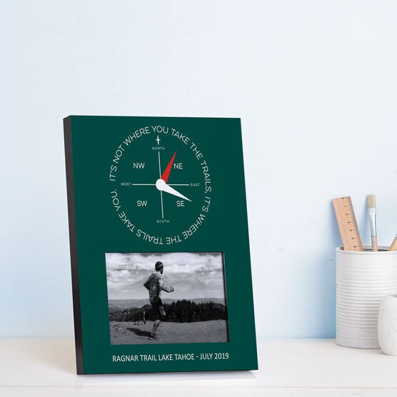 Running Photo Frame - Compass - It's Not Where You Take The Trails