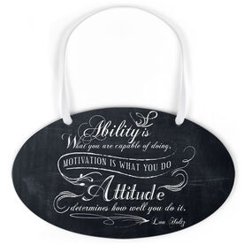 Running Oval Sign - Vintage Ability Is What You Are Capable Of Doing