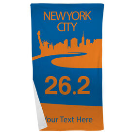 Running Beach Towel NYC City