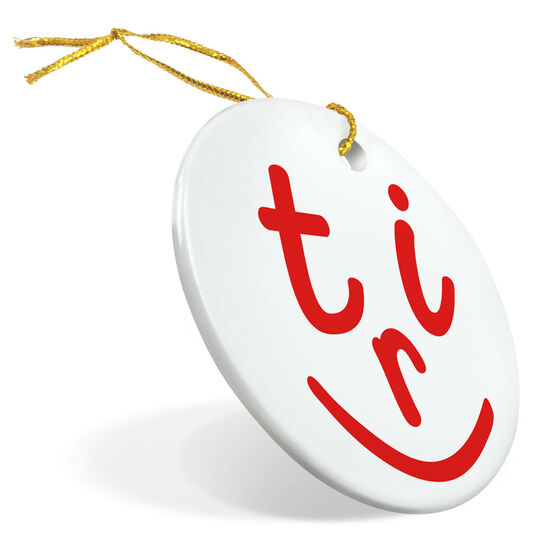 Triathlon Porcelain Ornament Tri Face