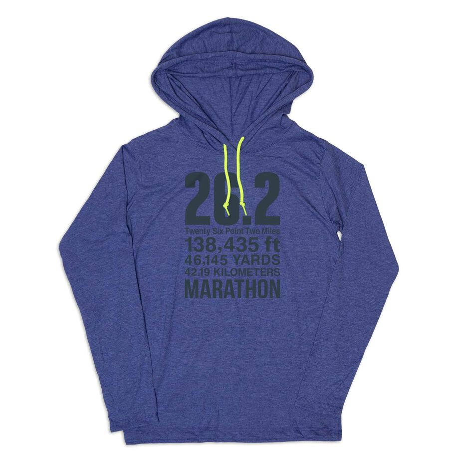 Men's Running Lightweight Hoodie - 26.2 Math Miles
