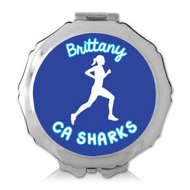 Personalized Running Girl Color Compact Mirror