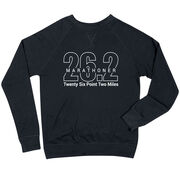 Running Raglan Crew Neck Sweatshirt - Marathoner 26.2 Miles