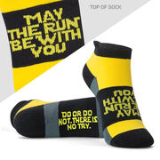 Socrates® Woven Performance Sock - May the Run be with You