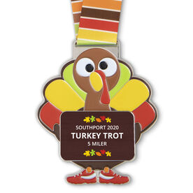 Turkey Trot Custom Race Medals
