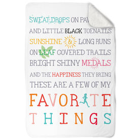 Running Sherpa Fleece Blanket Favorite Things