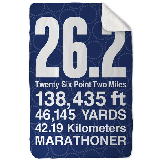 Running Sherpa Fleece Blanket 26.2 Math Miles