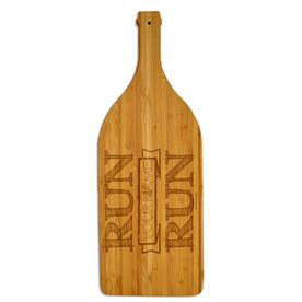 Wine Bottle Laser Engraved Bamboo Cutting Board Run Your Name Run
