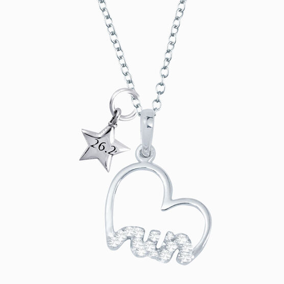 Livia Collection Sterling Silver Heartfelt Run Necklace